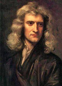 Portrait d'Isaac Newton, grand savant de l'énergie. Copie d'une peinture de Godfrey Kneller réalisée par Barrington Bramley – Source : Wikimedia Commons