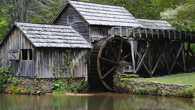 Fig. 5 : Moulin à eau, Mabry mill, Virginie, USA, 1905 – Source : David Hanks, Pixabay