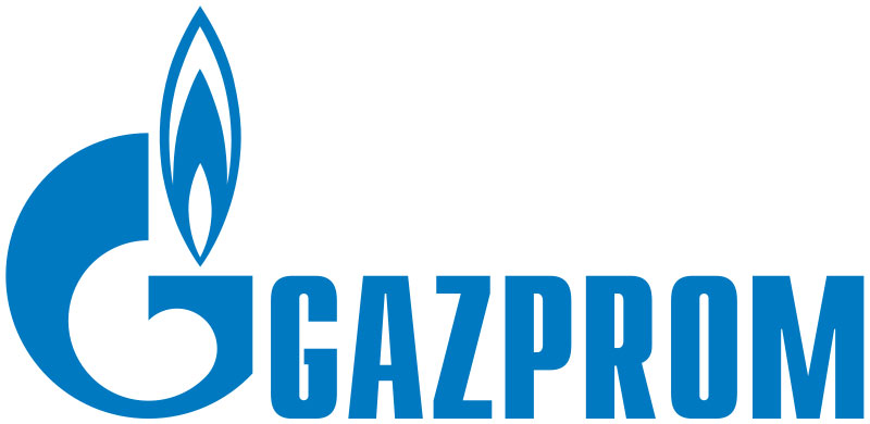 Fig. 9 : Le logo de Gazprom – Source : Wikimedia Commons