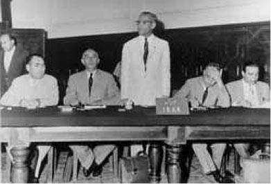 Fig. 9 : Primera conferencia de la OPEP en Bagdad 10-14 de septiembre de 1960