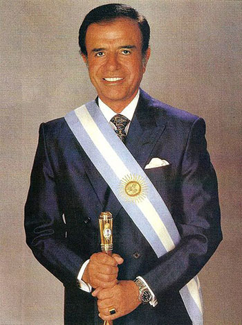 Fig. 2 : Carlos Menem, 1989 – Fuente : Wikimedia Commons