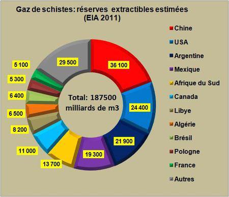 Fig. 7 : Shale gas, reservas in Argentina – Fuente : Leblogenergie.com