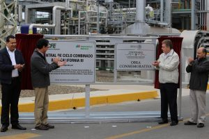 Fig. 3 : Inaugura CFE central eléctrica. Fuente : El Vigia.