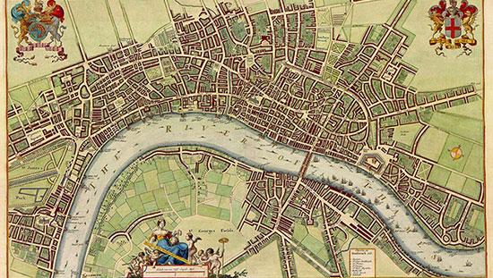 Fig. 4 : Londres au 17ème siècle - Source : Wencesclas Hollar, others [Public domain], via Wikimedia Commons