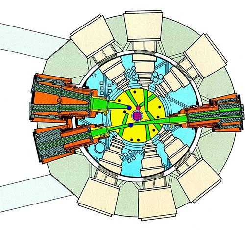Fig. 7 : Implantation des faisceaux Orphée - Source : Commissariat à l'énergie atomique et aux énergies alternatives (CEA)