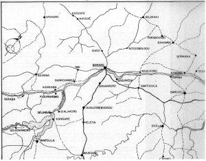 Fig. 2 : Le Niger et ses affluents au niveau de Bamako