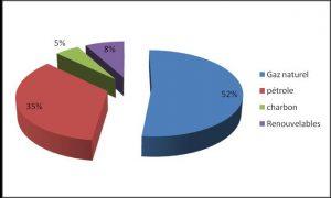 Fig. 3 : Répartition prévisible de la demande d'énergie primaire par source d'énergie –source : Horizon 2030