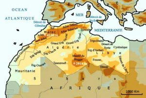 Fig. 1 : La situation géographique du Maghreb. Source : www.illutic.nl