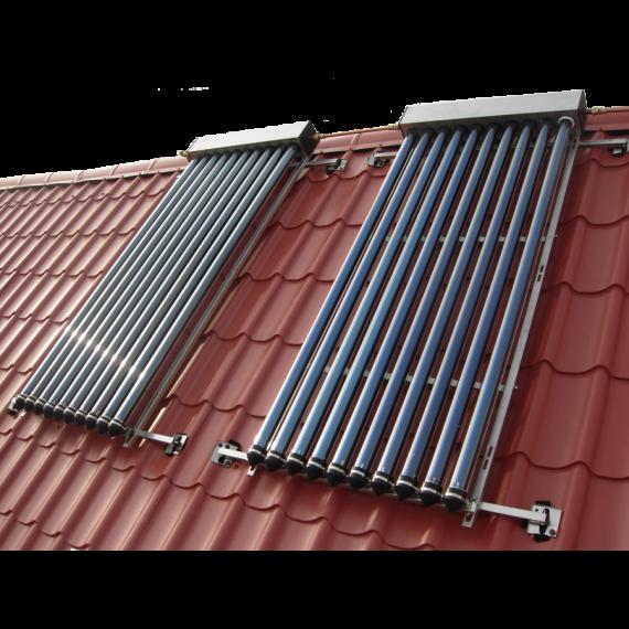 Fig. 4 : Chauffage par panneaux solaires. Source : Beiser Environnement