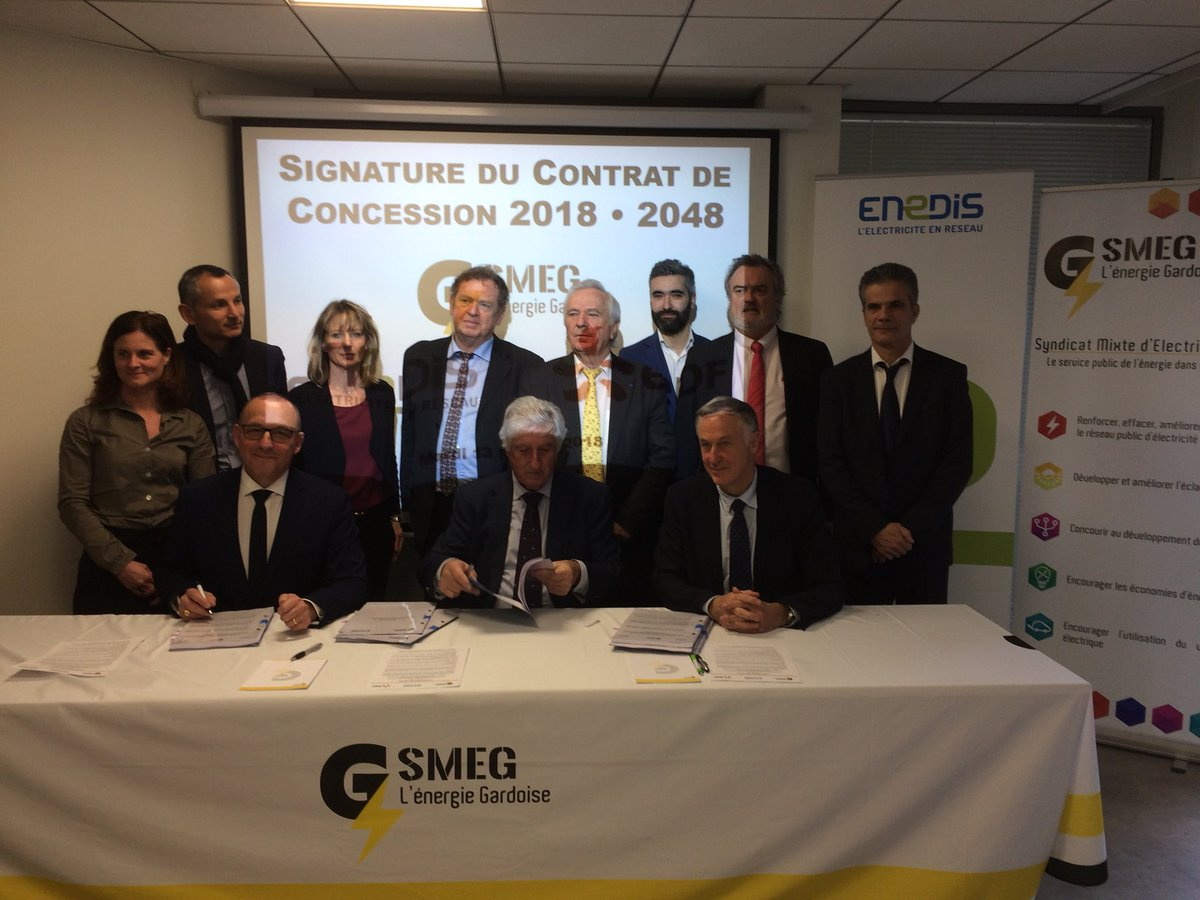 Fig. 3 : Signature d'un contrat de concession. Source : Twitter