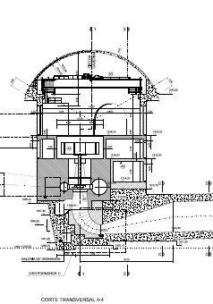 Fig. 14 : Coupe type d'une centrale de haute chute équipée de turbine Francis