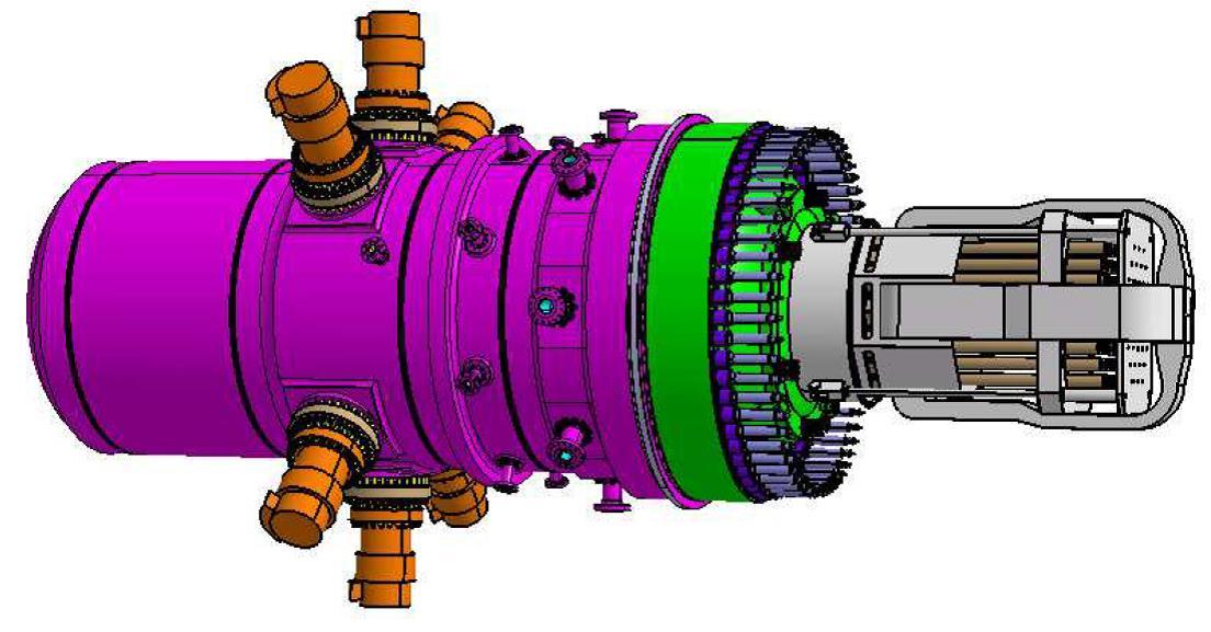 Fig. 9 : Chaudière REP intégrée- Source : AREVA