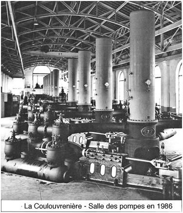 Fig. 9 : Le Coulouvrenière - salle des pompes, 1986
