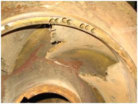 Fig. 11 : Détail de roue de pompe