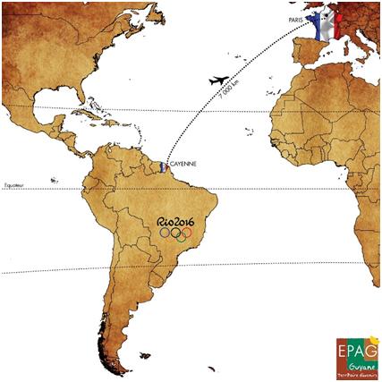 Fig. 1 : Situation géographique de la Guyane – Source : EPAG