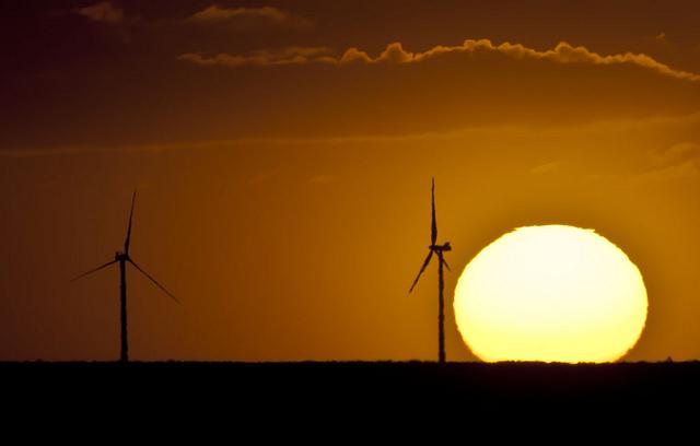 Fig. 1 : Parc éolien Rawson, Patagonie, Argentine - photo : Franco Rosini