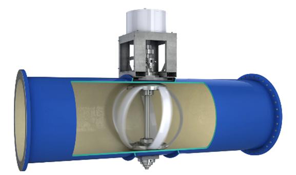 Fig. 5 : Turbine Lucid Energy. Source: Lucid Energy