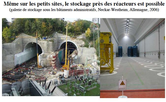 Fig. 2 : Stockage à sec en sub-surface des combustibles irradiés