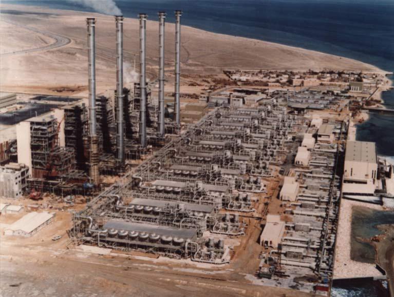 Fig. 11 : Usine de dessalement Al-Khobar II (Arabie saoudite) 223 000 m3/j MSF - Source : Veolia-Sidem
