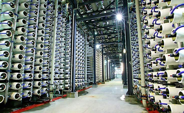 Fig. 22 : Usine de dessalement d'Ashkelon (Israël) - 320 000 m3/j - RO - Source : Veolia Water
