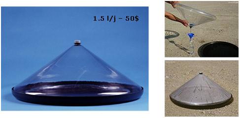 Fig. 31 : Micro équipement de dessalement solaire - Source : Mage Watermanagement