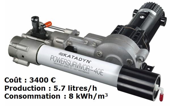Fig. 32 : Micro osmoseur pour la marine de plaisance – Source : Katadyn