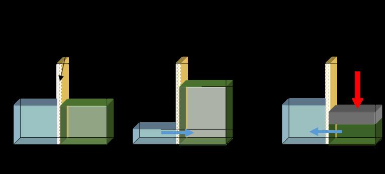 Fig. 5 : Les phénomènes osmotiques à travers une membrane - Source: Philippe Bandelier
