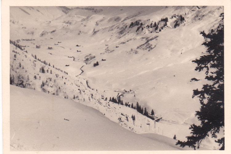 Fig. 5 : La cuvette de Roselend avant l' année 1955 – Source : photo Ivanoff