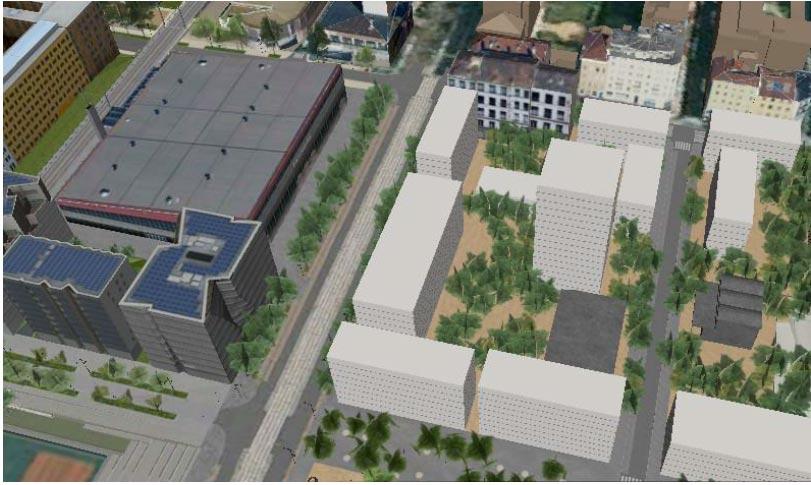 Fig. 10 : Ilot A3 du projet Lyon Confluence – Source : www.lyon-confluence.fr
