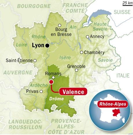 Fig. 2 : Localisation d'Hevatech dans la Drome. Source : RTL
