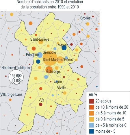 Fig. 18 : Grenoble-Alpes Métropole en 2010 - Source : https://www.insee.fr/fr/statistiques/1285839