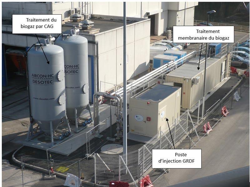 Fig. 24 : Unité de valorisation du biogaz - Source : Aquapole