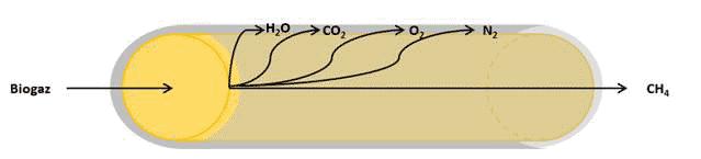 Fig. 9 : Principe de la séparation membranaire - Source : Prodeval