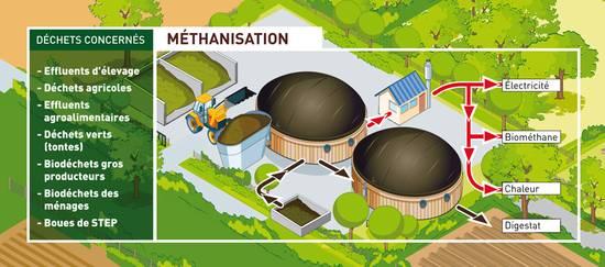 Méthanisation : du traitement des eaux usées à l'injection de biométhane dans le réseau
