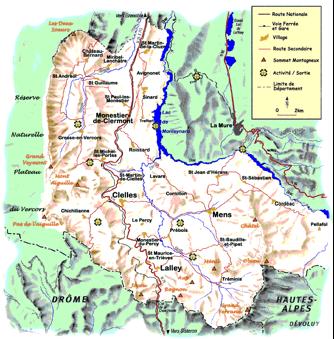 Fig.1 : Le Trièves - Source : CCT Trièves