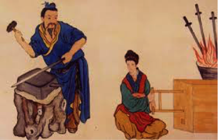 Fig. 5 : Forgeron chinois. Source : Wikipedia.org