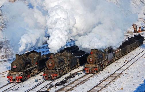 Fig. 5 : Chemins de fer chinois des années 1950.