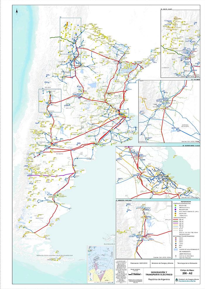 Anexo 3 : Plantas de generación y red de transporte eléctrico - Fuente: Ministerio de Energía