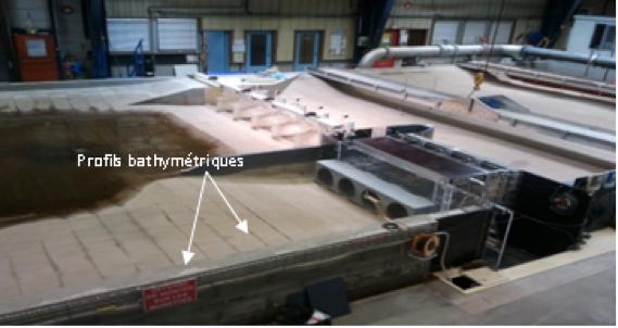 Fig. 10 : Barrage de Vaugris modélisé au laboratoire de la CNR - Source: CNR