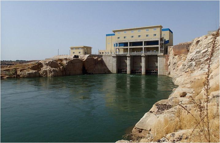 Fig. 20 : Barrage hydro-électrique du Félou – Source : Freepius (Own work) via Wikimedia Commons