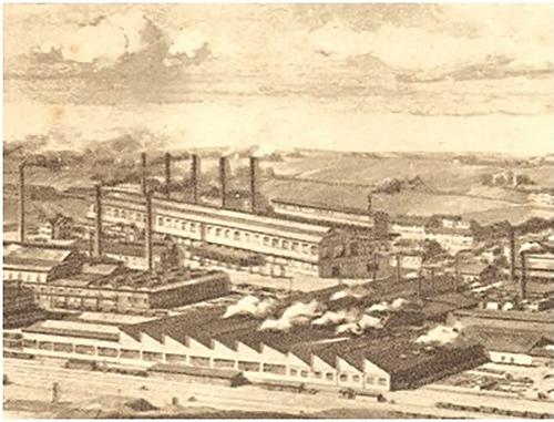Fig. 6 : L'usine Henrichshütte dans la Ruhr en 1880 - Source : Slg. LWL-Industriemuseum) http://www.zeitreise-ruhr.de/chronik/420-politische_wirtschaftliche_entwicklung_1850-1890.html