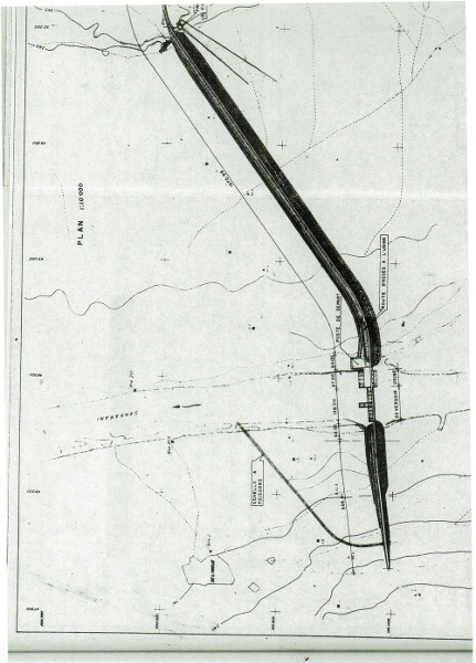 Fig. 4 : Vue succincte en plan du barrage
