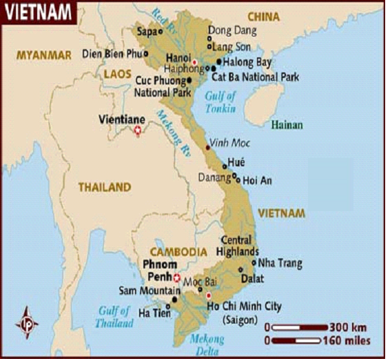 Fig. 1 : Carte du Viet Nam