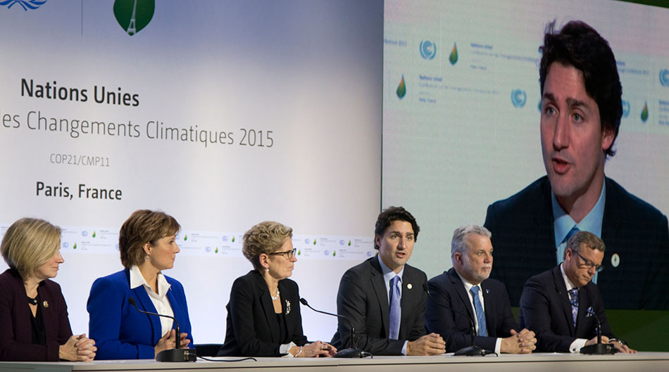 Image 1: Prime Minister Justin Trudeau represents Canada at the Paris Climate Summit in 2015