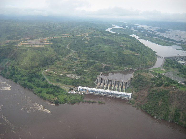 Fig. 18 : Barrage d'Inga – Source : USAID Democratic Republic of Congo via VisualHunt
