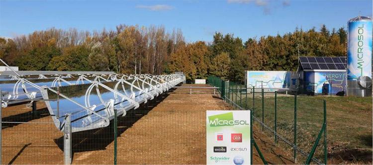 Fig. 6. Système d'électrification pour l'Afrique à base d'énergie renouvelable pour un groupe d'habitation, village ou communauté agricole.