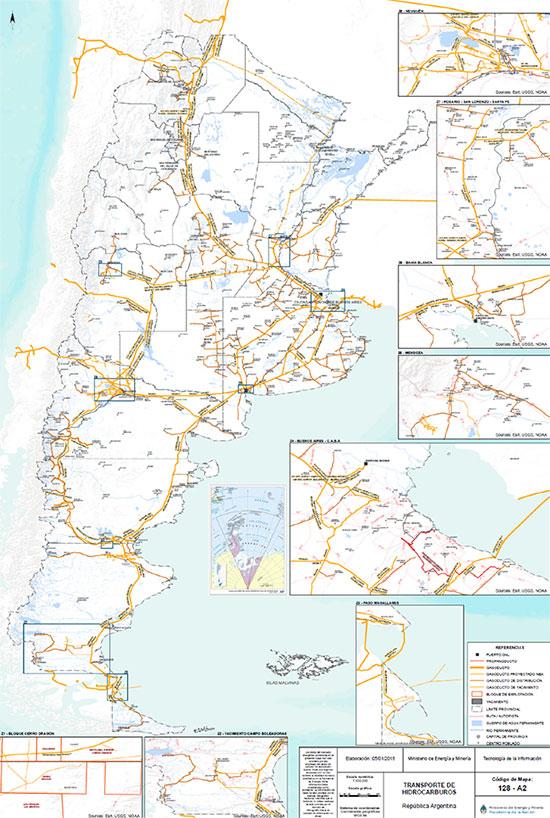 Annexe2: Réseau de gazoducs- Source: Ministère de l'Énergie.