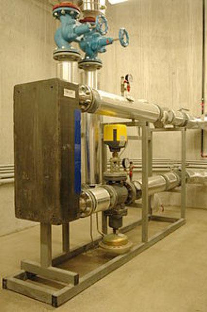 Fig. 5. Sous-station de réseau de chaleur.