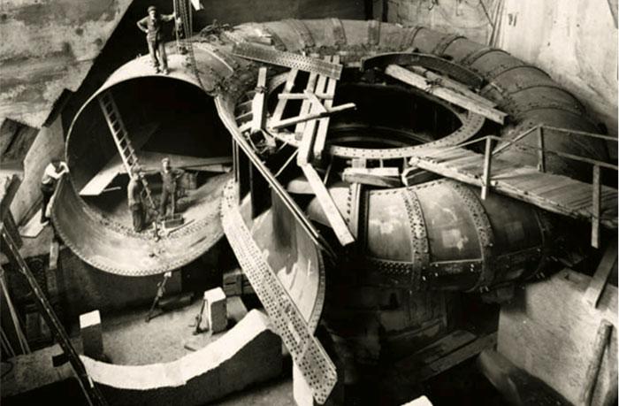 Fig. 21 : Installation d'une bâche spirale – Source: CNR