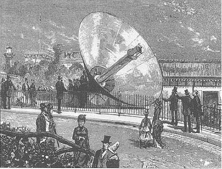 Fig. 2 : Machine de Mouchot à l'exposition universelle de Paris de 1878